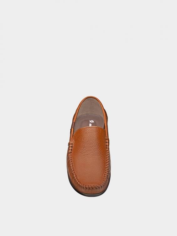 کفش کالج مردانه MS1932 2026 عسلی نمای جلو