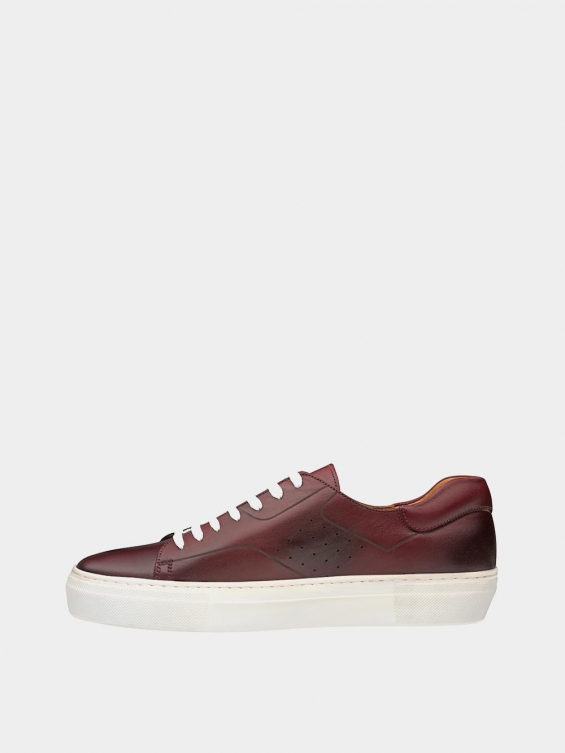 کفش اسپورت مردانه 6014 MS2514 زرشکی چپ