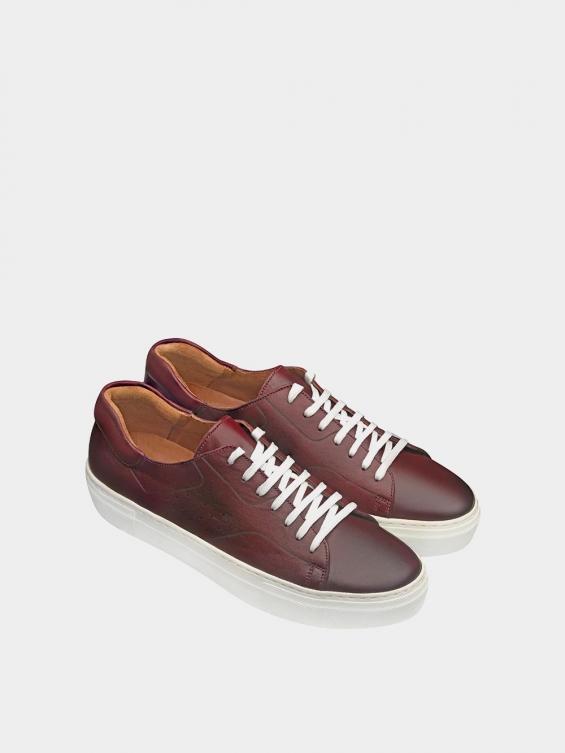 کفش اسپورت مردانه 6014 MS2514 زرشکی نمای جفت