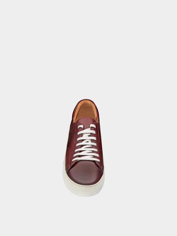 کفش اسپورت مردانه 6014 MS2514 زرشکی نمای جلو