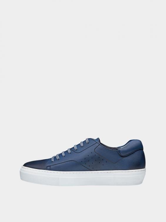 کفش اسپورت مردانه 6014 MS2514 سرمه ای چپ
