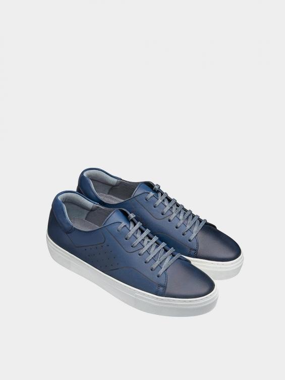 کفش اسپورت مردانه 6014 MS2514 سرمه ای نمای جفت