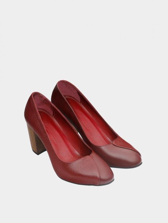 کفش مجلسی زنانه 1347 WS3219 زرشکی نمای جفت