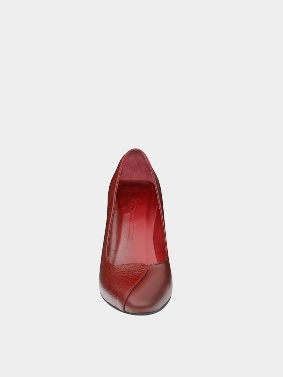 کفش مجلسی زنانه 1347 WS3219 زرشکی نمای جلو