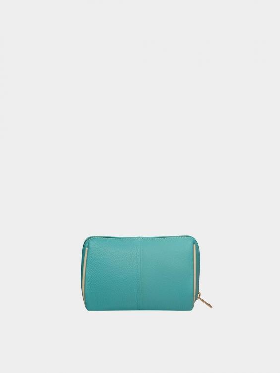 کیف آرایشی آیناز CBX0319 فیروزه ای نمای پشت