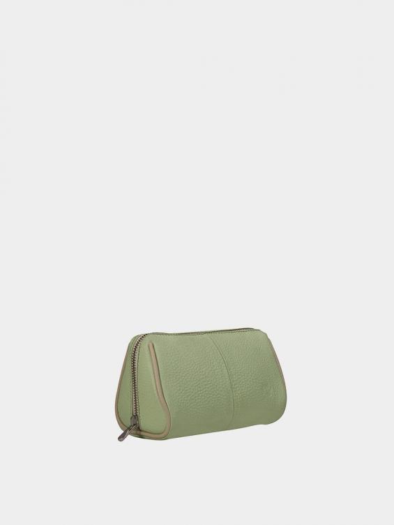 کیف آرایشی آیناز CBX0319 سبز نمای بغل