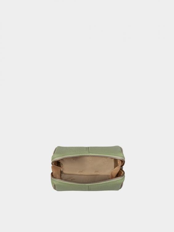 کیف آرایشی آیناز CBX0319 سبز نمای داخل