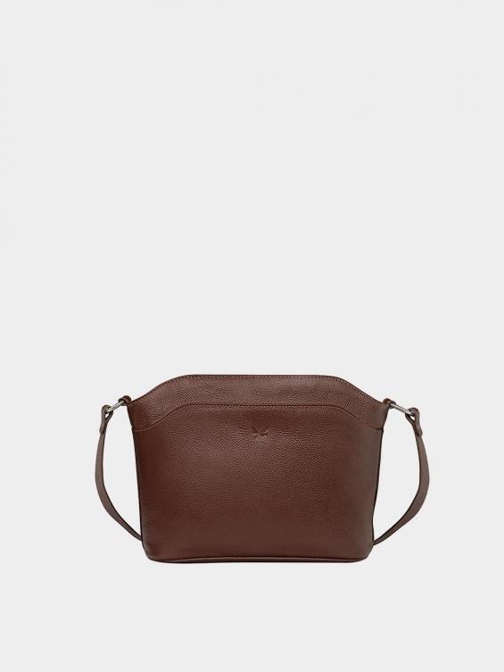 کیف دوشی زنانه پرنیا LHB4324 قهوه ای