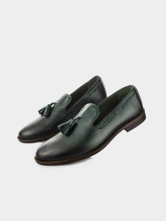 کفش کالج مردانه 61709 MS2620 یشمی