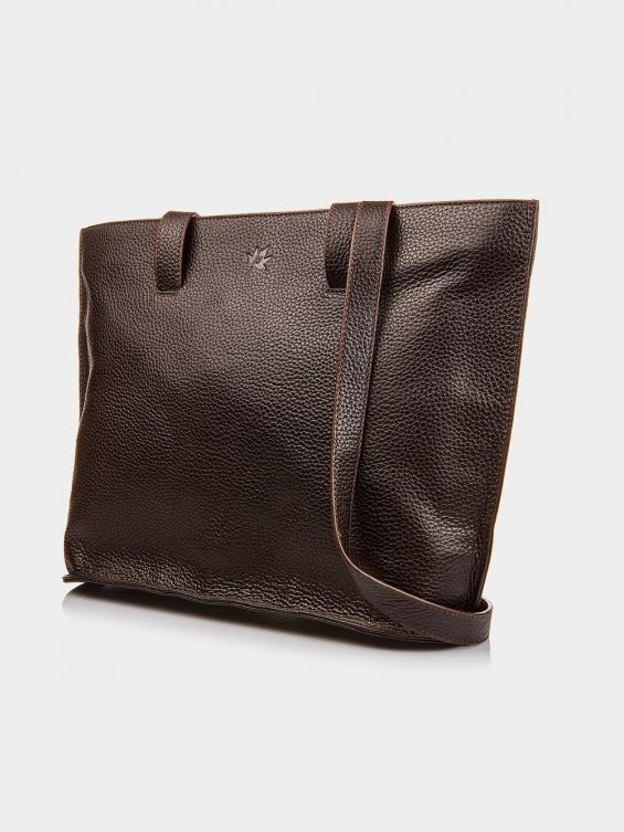 کیف دوشی زنانه 1030-1 LHB4695 قهوه ای