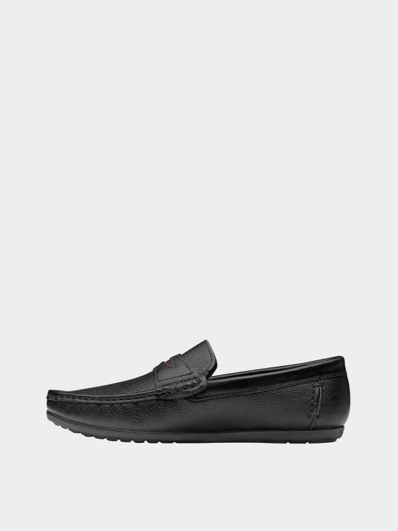 کفش کالج مردانه کیانو MS2175  مشکی چپ